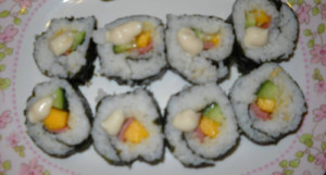 foodtrip, jayrene, japanese recipes, recipes, sushi, mango
