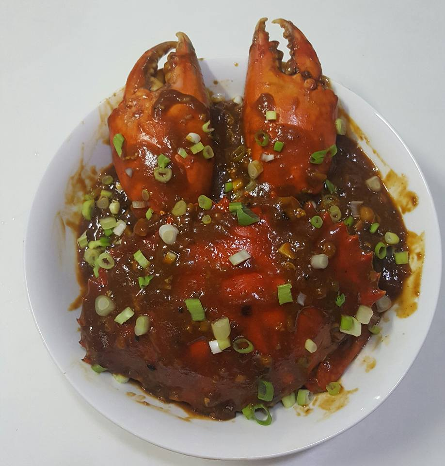 Giant chili crab, giant crab, chili crab recipe